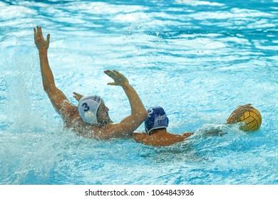 RIJEKA, CROATIA April 5: LEN Water Polo Europa Cup, Men's SUPER FINAL, RIJEKA (CRO). Croatia wins epic match against France, on April 5, 2018 in Rijeka