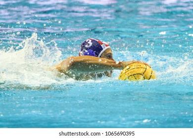 RIJEKA, CROATIA April 7: LEN Water Polo Europa Cup, Men's SUPER FINAL, RIJEKA (CRO). Croatia wins epic match against Serbia, on April 7, 2013 in Rijeka