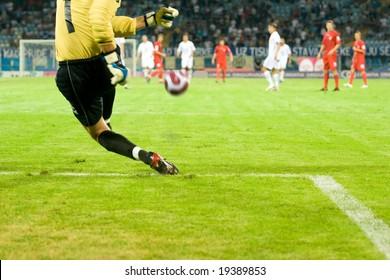 "RIJEKA, CROATIA - MARCH 15: soccer match beetwen ""HNK Rijeka"" and ""HNK Zagreb"" (First Croatian Football league) March 15 2008 in Rijeka, Croatia"