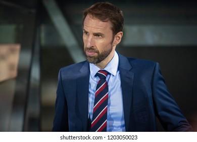 RIJEKA, CROATIA - OCTOBER 12, 2018: UEFA Nations League - Group stage - Group A4 - Matchday 3. Croatia VS England. Coach Gareth Southgate (ENG)