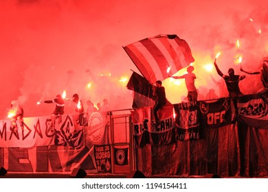 RIJEKA, CROATIA - SEPTEMBER 08: soccer match between HNK Rijeka and NK Maribor (friendley match) 2018 in Rijeka, Croatia