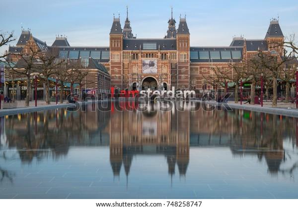 Rijksmuseum mit I Amsterdam sign, Holland