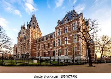 The Rijksmuseum, famous building in Amsterdam
