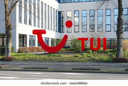 Rijswijk, the Netherlands. March 2020. TUI group office building, an international travel and tourism agency.