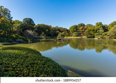 """Rikugien is the most beautiful Japanese landscape garden in Tokyo. Rikugien literally means """"six poems garden""""and strolling garden features a large pond surrounded  by manmade hills and forested areas"""