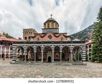 RILA, BULGARIA - APRIL 09, 2019: Monastery of Saint Ivan of Rila, also known as Rila Monastery (Rilski manastir). Kyustendil Region