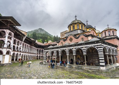 Rila monastery is an important bulgarian orthodox monastery and UNESCO World Heritage Site. Rila, Bulgaria, June 2017