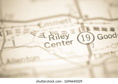 Riley Center. Michigan. USA on a geography map.