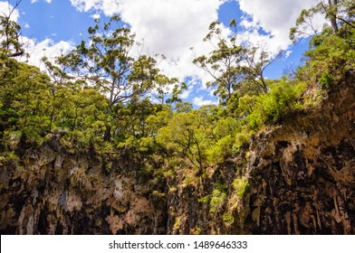 Rim around the sink hole of Jewel Cave - Deepdene, WA, Australia