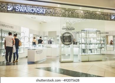 6a88c145a35 RIMINI, ITALY - OCTOBER 02, 2016: Swarovski store in Le Befane shopping  center