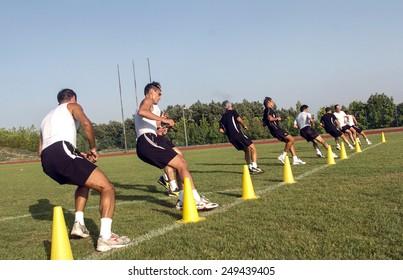 RIMINI, ITALY-JULY 30, 2005: italian professional soccer referees training camp, in Rimini