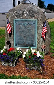 Rindge, New Hampshire - July 11, 2013:  World War I Memorial dedicated to the men of Rindge who perished during the 1917-18 Great War