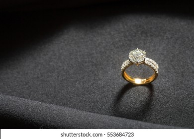 Ring with big diamond