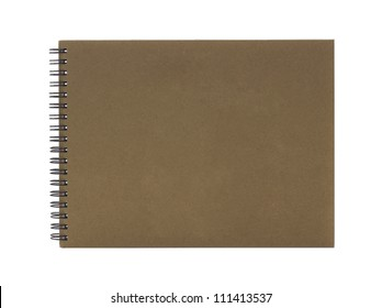 Ring binder book or notebook isolated on white background