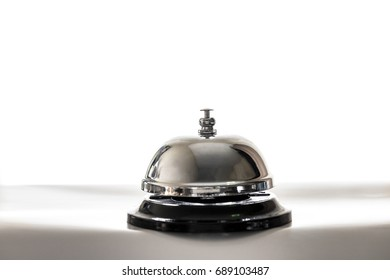 Ring the call bell with copy space , Ring bell service.