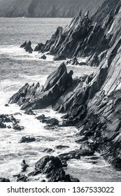 Ring of Dingle Peninsula Kerry Ireland Cumenoole beach sharp stones Slea Head