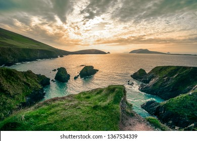Ring of Dingle Peninsula Kerry Ireland Dunquin Pier Harbor Rock Stone Cliff Landscape Seascape