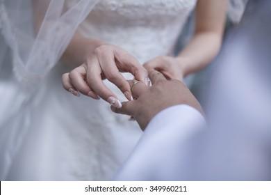 Wedding Ring Exchange Images Stock Photos Vectors Shutterstock