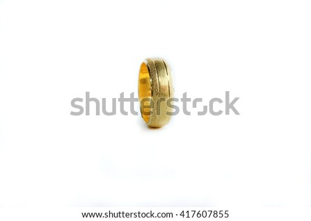 Ring Gold Ring Top Gold Ring Stock Photo Edit Now 417607855