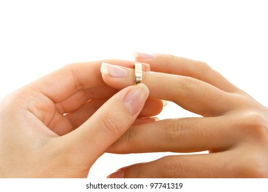 ring in hand