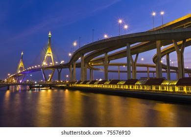 Ring industry bridge his majesty the King road  Bangkok , Thailand ,