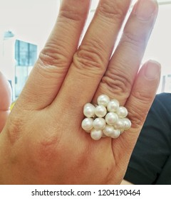 Ring made of pearls.