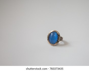 Ring with natural stone