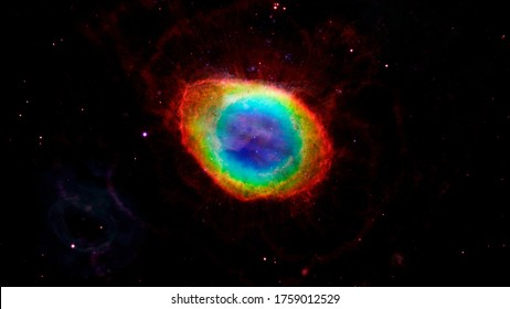 Ring Nebula, Messier 57 or NGC 6720. Elements of this image furnished by NASA.