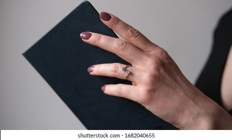 a ring on the models hand