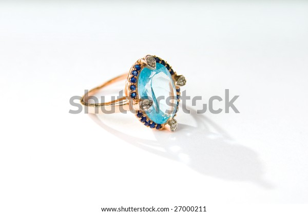 Ring on the white background