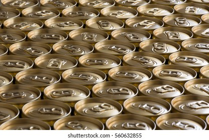 ring tabs of gold cans
