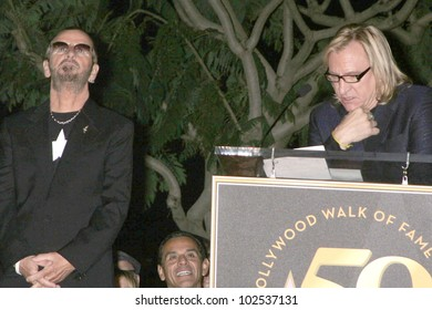 Ringo Starr and Joe Walsh at the induction ceremony for Ringo Starr into the Hollywood Walk of Fame, Hollywood, CA. 02-08-10