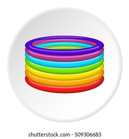 Rings in colours of LGBT icon. Cartoon illustration of rings in colours of LGBT  icon for web