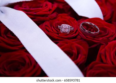 Rings on roses separated view