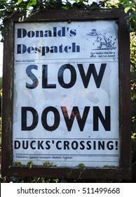 RINGSTEAD, NORFOLK/UK - November 2, 2016. Slow Down sign, Ringstead, Norfolk, England, UK