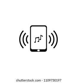 ringtone on your phone icon. Element of simple music icon for mobile concept and web apps. Isolated ringtone on your phone icon can be used for web and mobile on white background