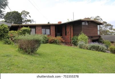 Ringwood, Victoria, Australia. 28 October 2017. Australian residential 1970s suburban house.