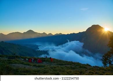 Rinjani Mountain Sunset
