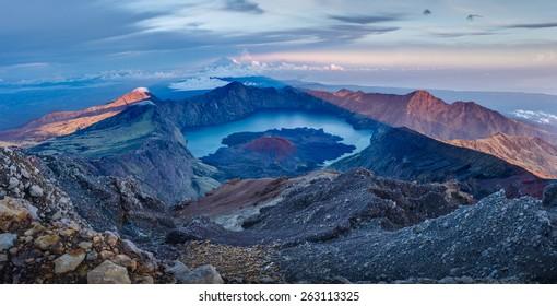 Rinjani Summit - Shutterstock ID 263113325