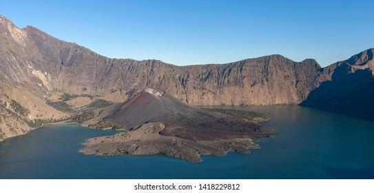 Rinjani volcano . Lombok island. Indonesia