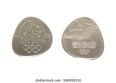 Rio 2016 Summer Olympic Games Participation medal reverse and obverse. Kouvola Finland 08.04.2018
