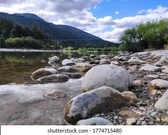 Rio Azul, the main river of Lago Puelo, Chubut. Argentina.