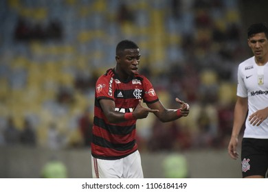 Rio, Brazil –June 03, 2018: - Soccer match between Flamengo and Corinthians  by the Brazilian championship in Maracana Stadium