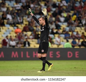 Rio, Brazil –August 13, 2018: - Lomba  player in match  match between Internacional   and Fluminesne   by the Brazilian championship in Maracana Stadium