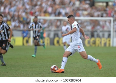 Rio, Brazil - april 01, 2018: Paulinho player in match between Botafogo and Vasco by the Carioca Championship in Nilton Santos Stadium