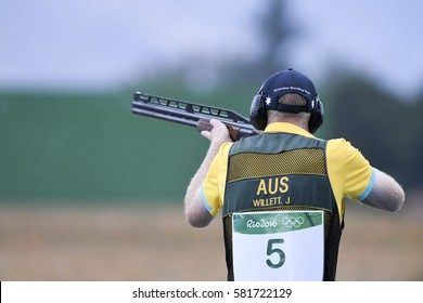 Rio, Brazil - august 10, 2016: WILLETT James (AUS) during Double Trap Men at Olympic Games 2016 in Olympic Shooting Centre, Deodoro