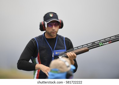 Rio, Brazil - august 10, 2016: BARILLA Antonino (ITA) during Double Trap Men at Olympic Games 2016 in Olympic Shooting Centre, Deodoro