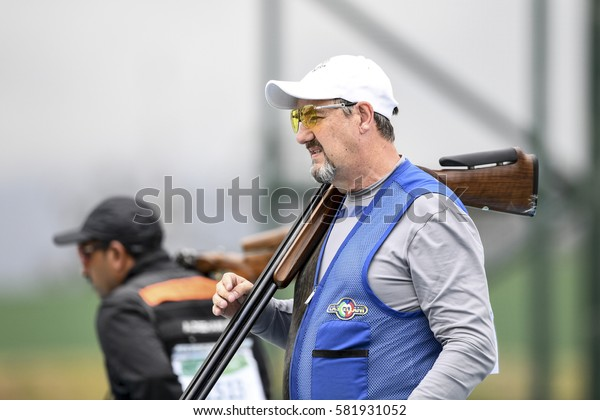 Rio, Brazil - august 10, 2016: DAHLBY Hakan (SWE) during Double Trap Men at Olympic Games 2016 in Olympic Shooting Centre, Deodoro
