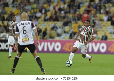 Rio, Brazil - august 21, 2017: Wendel player in match between Fluminense and  Atletico-MG by the Brazilian championship in Maracana Stadium