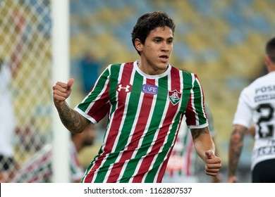 Rio, Brazil - august 22, 2018: Pedro player in match between Fluminense and Corinthians by the Brazilian Championship in Maracana Stadium